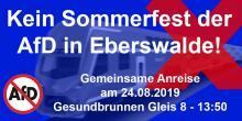 """Brandenburg Calling! Gegen das AfD-""""Sommerfest"""" in Eberswalde am 24.08.19!"""